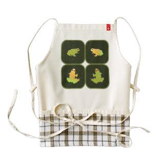 Four frogs zazzle HEART apron