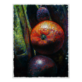 Four fruits art print