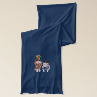 Four Funny Cats Scarf