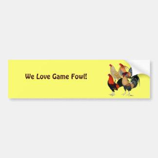 Four Gamecocks Bumper Sticker