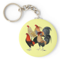 Four Gamecocks Keychain