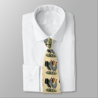 Four Gamefowl Hens Neck Tie