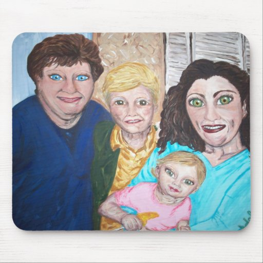 """""""Four Generations"""" Mouse Pad"""