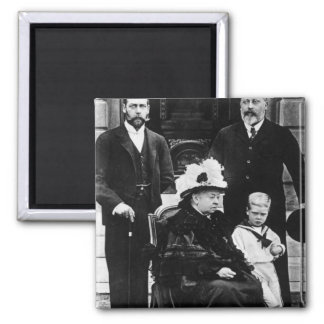 Four Generations of Victorian Royalty 2 Inch Square Magnet