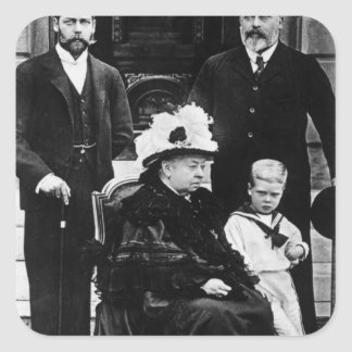 Four Generations of Victorian Royalty Square Sticker
