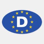 "FOUR Germany ""D"" European Union Flag Stickers"