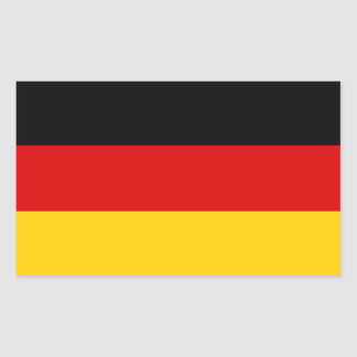 FOUR Germany Tricolor Rectangular Sticker