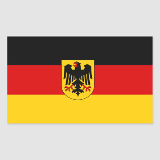 FOUR Germany Tricolor with Coat of Arms Rectangular Sticker