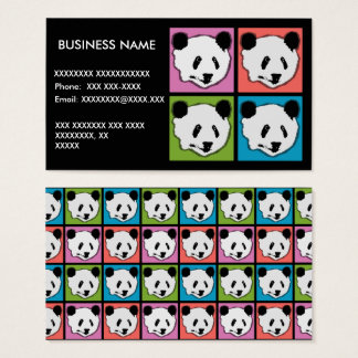 Four Giant Panda Bears Business Card