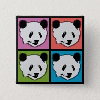 Four Giant Panda Bears Button
