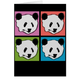 Four Giant Panda Bears Card