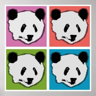 Four Giant Panda Bears Poster