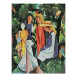 Four girls by August Macke Posters