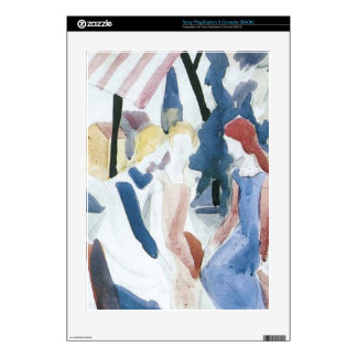Four girls on Altane by August Macke Skins For PS3 Console