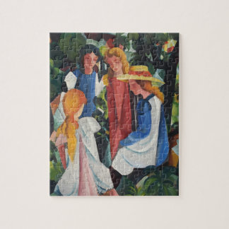 Four girls puzzles
