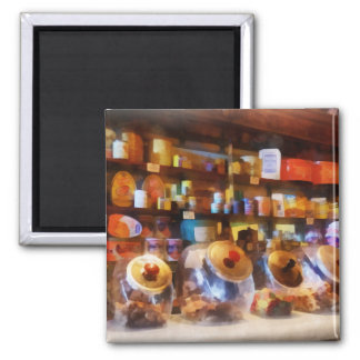 Four Glass Candy Jars Refrigerator Magnet