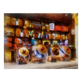 Four Glass Candy Jars Posters