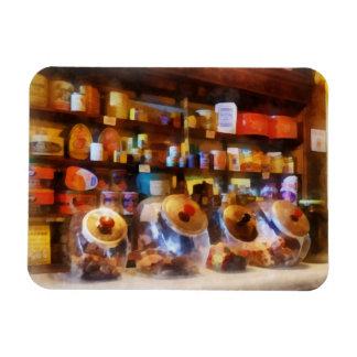 Four Glass Candy Jars Vinyl Magnet