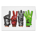 FOUR GLOVES GREETING CARD