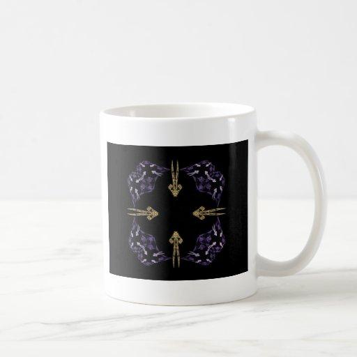 Four Golden Arrows Fractal Art Classic White Coffee Mug