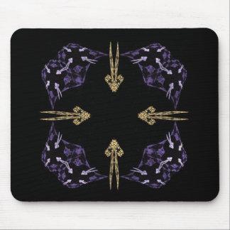 Four Golden Arrows Fractal Art Mouse Pad