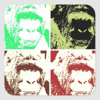 Four Gorillas Square Sticker