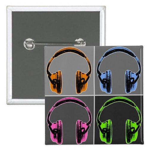 Four Graphic Headphones Button