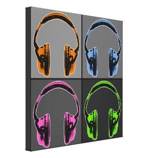 Four Graphic Headphones Canvas Print