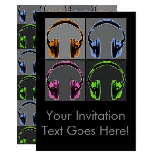 Four Graphic Headphones Card