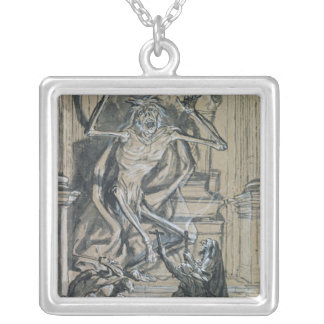 Four Grave Robbers awaken a Ghost Silver Plated Necklace