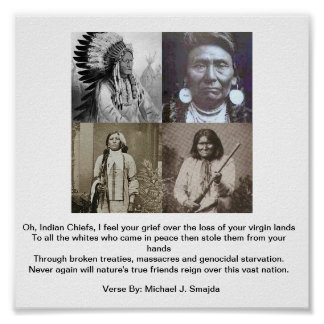 Four Great Chiefs w/Verse Poster