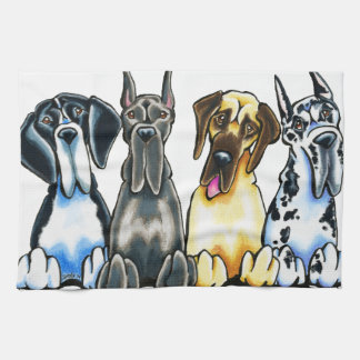 Four Great Danes Hand Towel