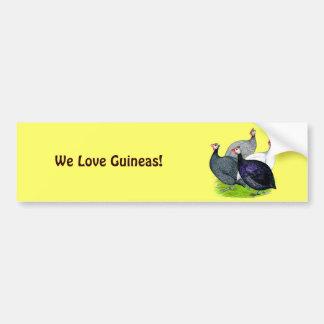 Four Guineas Car Bumper Sticker