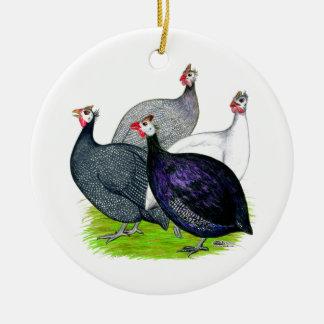 Four Guineas Ceramic Ornament
