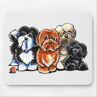 Four Havanese Mouse Pad