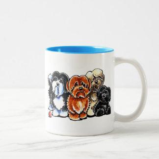 Four Havanese Two-Tone Coffee Mug
