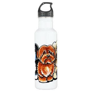 Four Havanese Stainless Steel Water Bottle