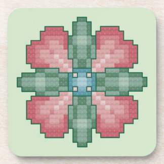 Four Heart Flower Coasters