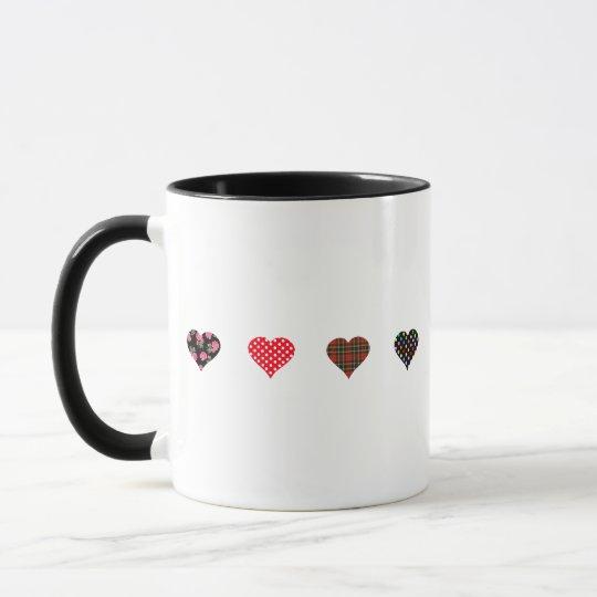 Four Hearts Design Mug