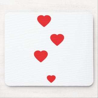 four hearts icon mouse pad
