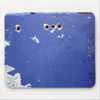 Four Hole Blue Pad Mouse Pad