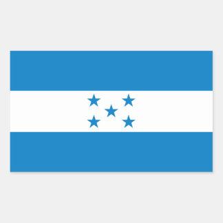 FOUR Honduras National Flag Rectangle Stickers