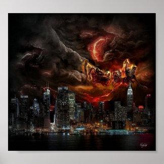 Four Horsemen New York Poster