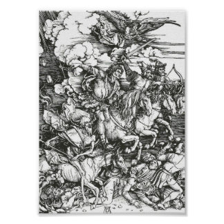 Four Horsemen of the Apocalypse, Albrecht Dürer Poster
