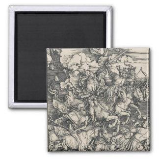 Four Horsemen of the Apocalypse by Durer Magnet