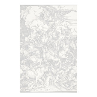 Four Horsemen of the Apocalypse by Durer Stationery