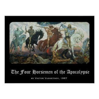"""Four Horsemen of the Apocalypse"" Posters"