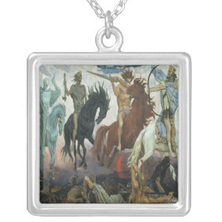 Four Horsemen of the Apocalypse Silver Plated Necklace