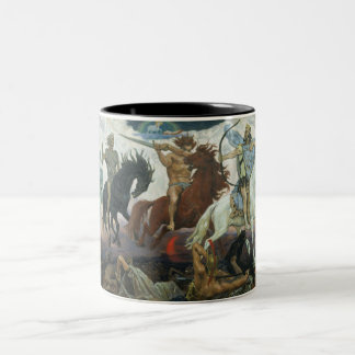 Four Horsemen of the Apocalypse Two-Tone Coffee Mug