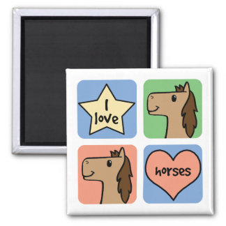 Four Horses Refrigerator Magnets